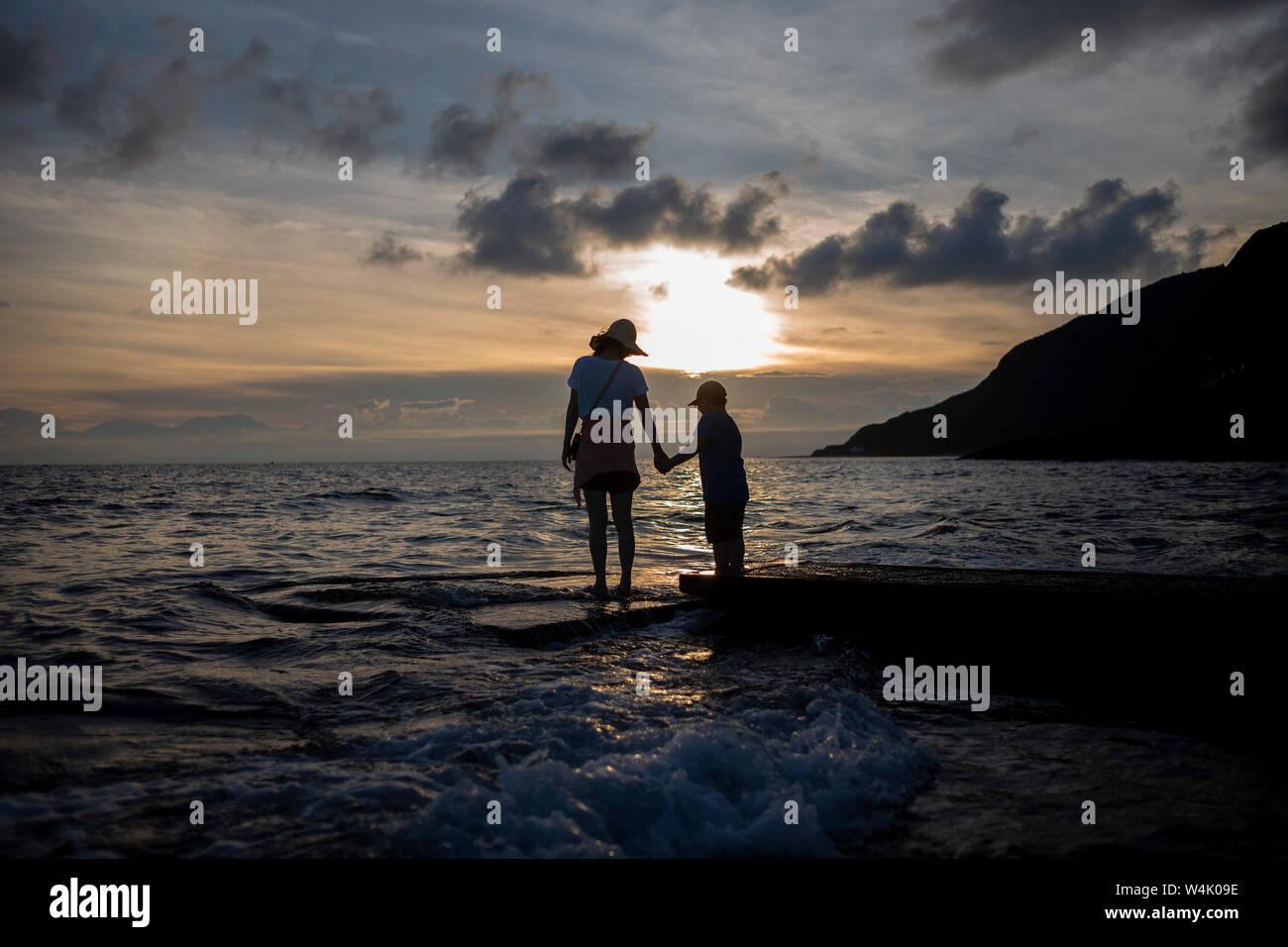 Taitung, China's Taiwan. 23rd July, 2019. Tourists visit the Green Island in Taitung, southeast China's Taiwan, July 23, 2019. Credit: Wu Lu/Xinhua/Alamy Live News Stock Photo