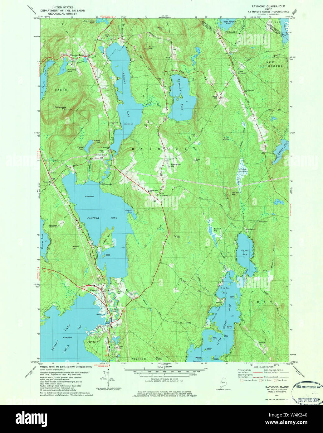 map of raymond maine Maine Usgs Historical Map Raymond 807088 1981 24000 Restoration map of raymond maine