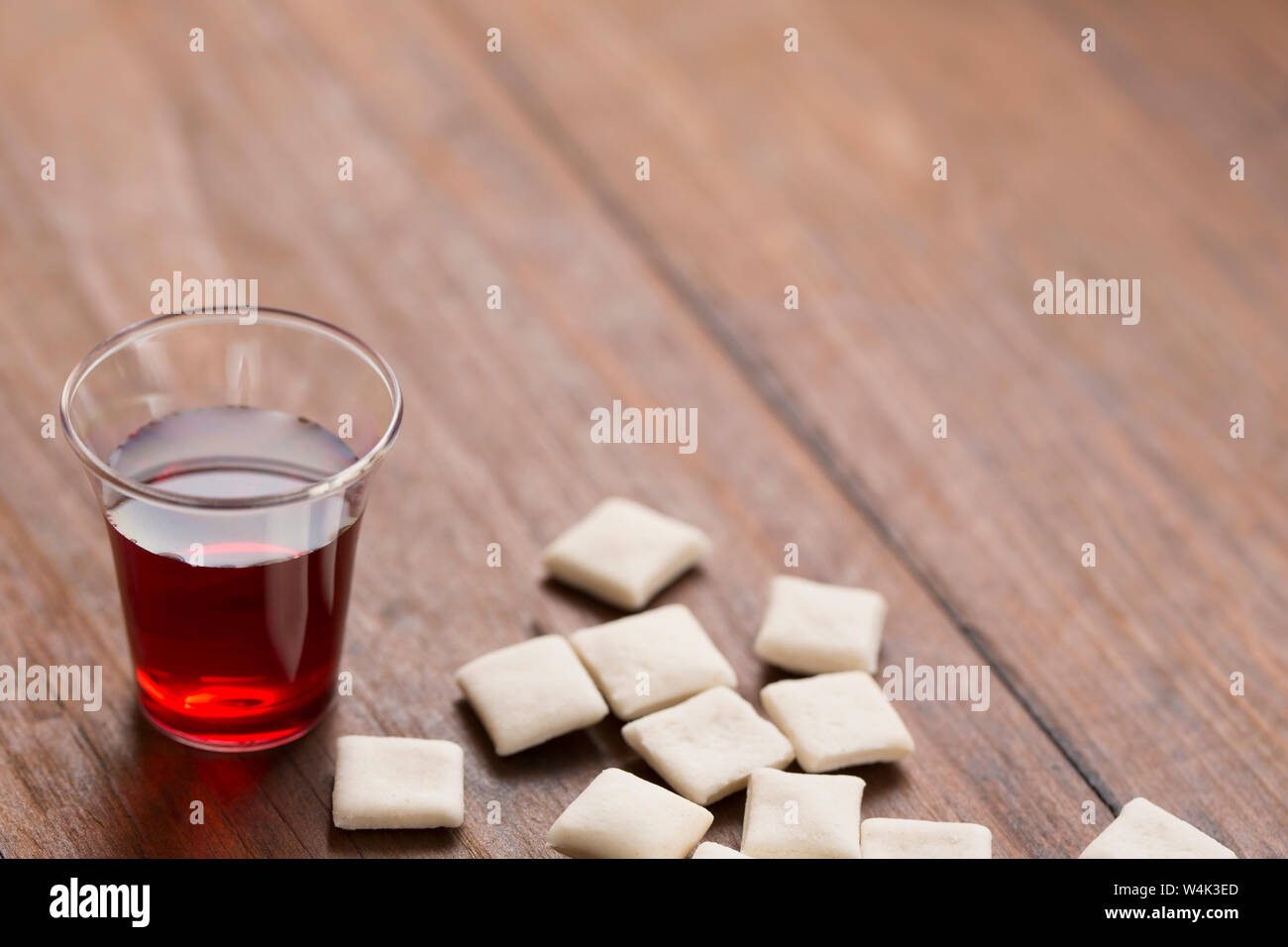 Communion Cup and Bread Stock Photo: 261033989 - Alamy