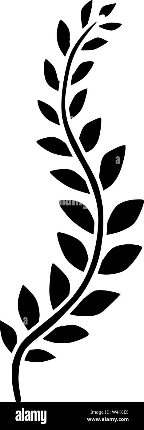 vine vector plant silhouette black illustration stock vector image & art -  alamy  alamy