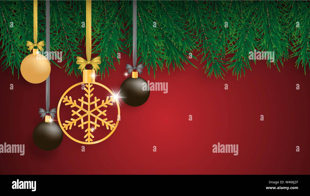 Merry Christmas and Happy new year greeting card, banner