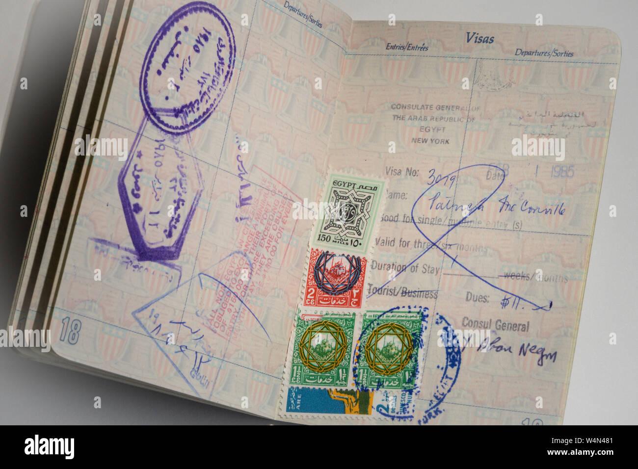 Visa Stamps Stock Photos & Visa Stamps Stock Images - Alamy