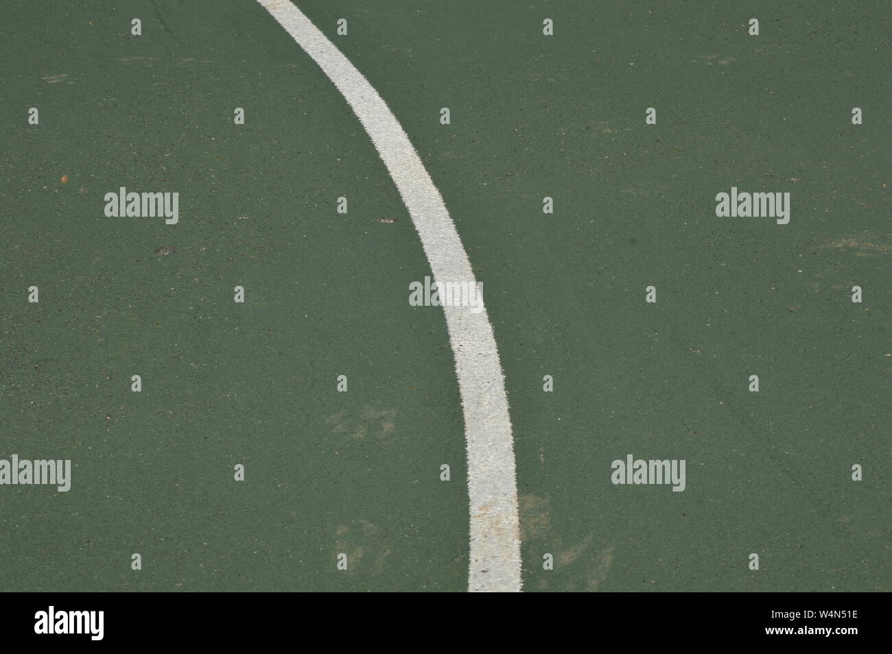 Closeup on a jogging runway Stock Photo
