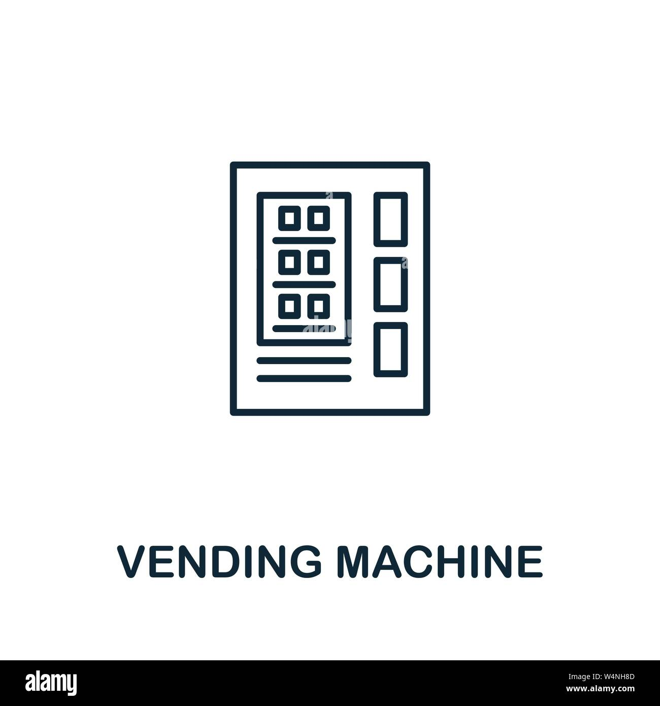 Vending Machine outline icon. Thin style design from city elements icons collection. Pixel perfect symbol of vending machine icon. Web design, apps Stock Vector