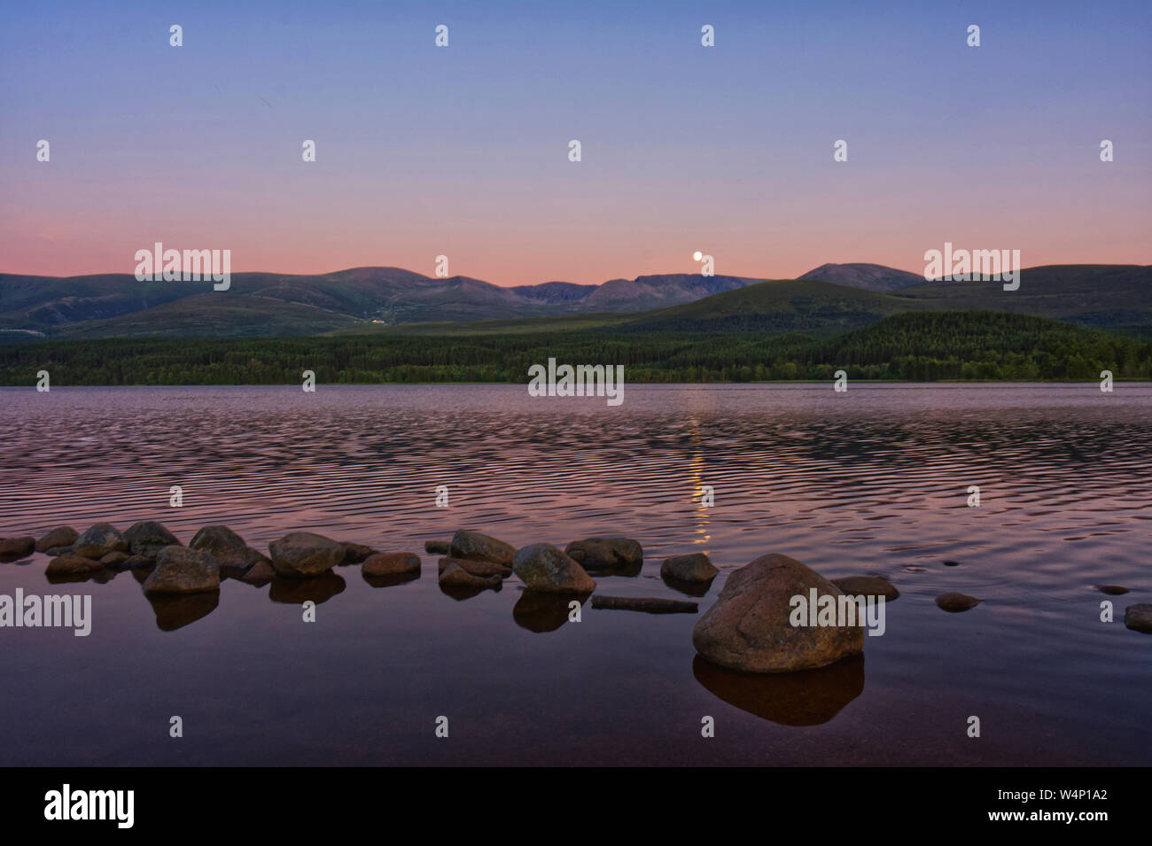 Loch Morlich  Aviemore Stock Photo