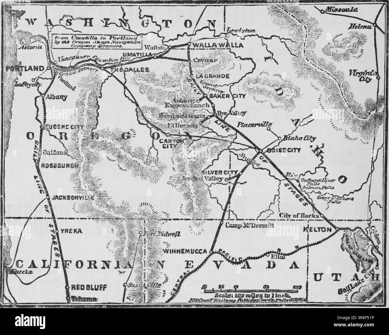 1880 Map of Colton Township Oregon and Washington Territory