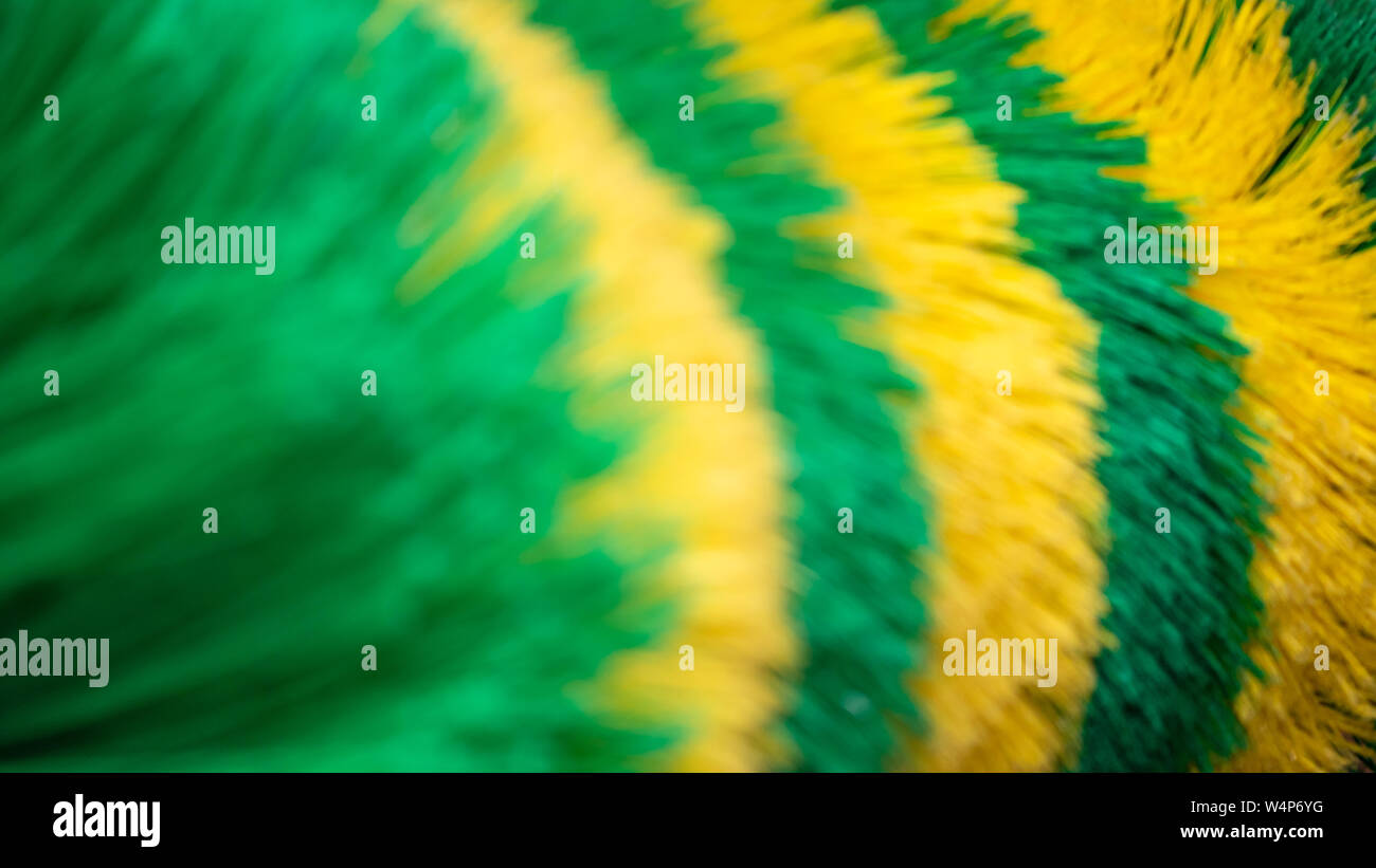 Big brush of Car Wash machine closeup. Caring for a vehicle. Soft color background Stock Photo