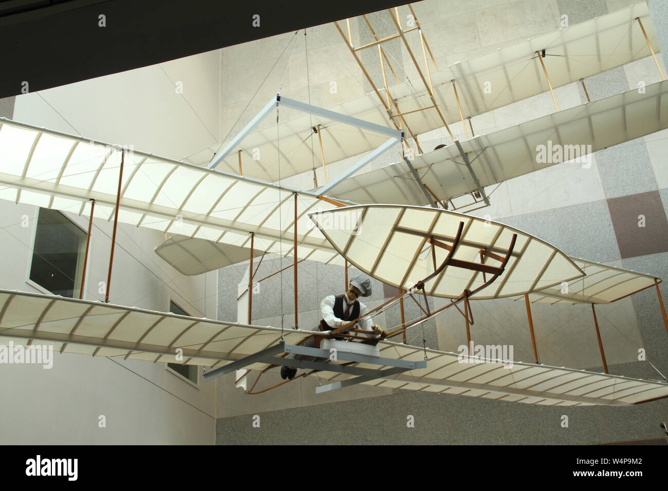 Replica of one of the Wright Brothers' gliders at North Carolina Museum of History in Raleigh, NC, USA Stock Photo