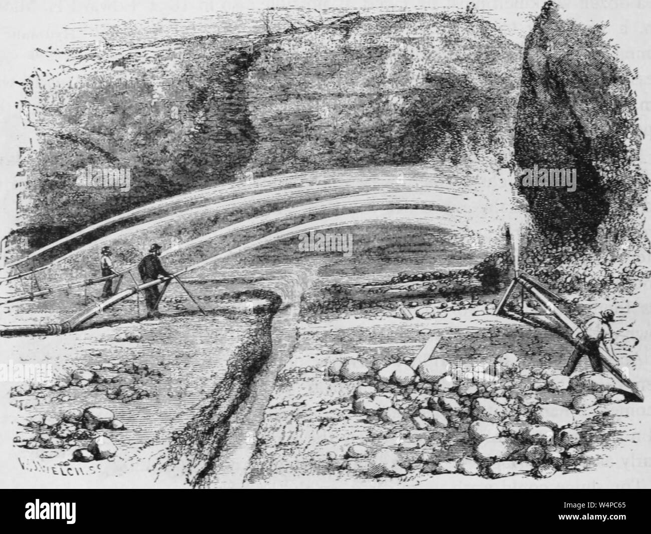 Gold Miner Black and White Stock Photos & Images - Alamy
