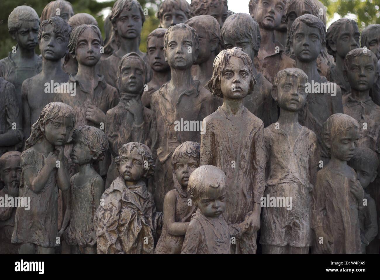 War memorial in Lidice, Czech Republic Stock Photo