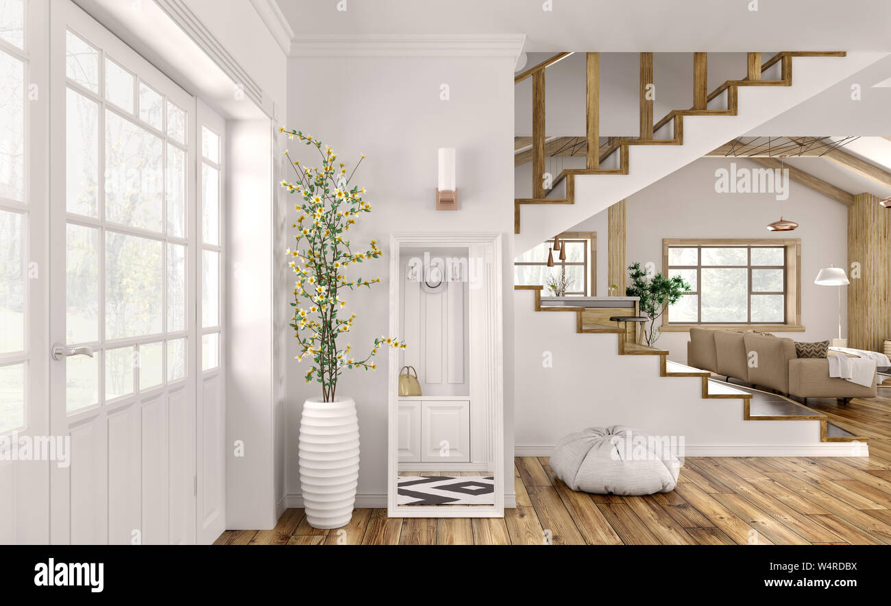 Modern Interior Design Of Hall Living Room With Staircase 3d Rendering Stock Photo Alamy,Beautiful Simple Mehndi Designs For Kids Full Hand