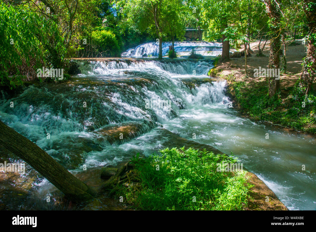 River Piedra Monasterio De Piedra Natural Park Nuevalos Zaragoza Province Aragon Spain Stock Photo Alamy
