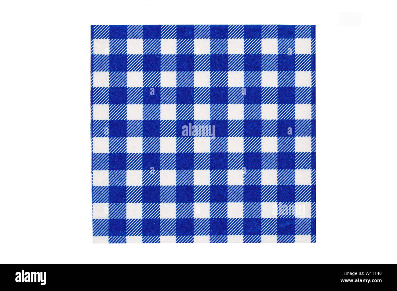 Closeup Of A Blue And White Checkered Kitchen Cloth Or Napkin Isolated On Background Accessories Macro Stock Photo Alamy