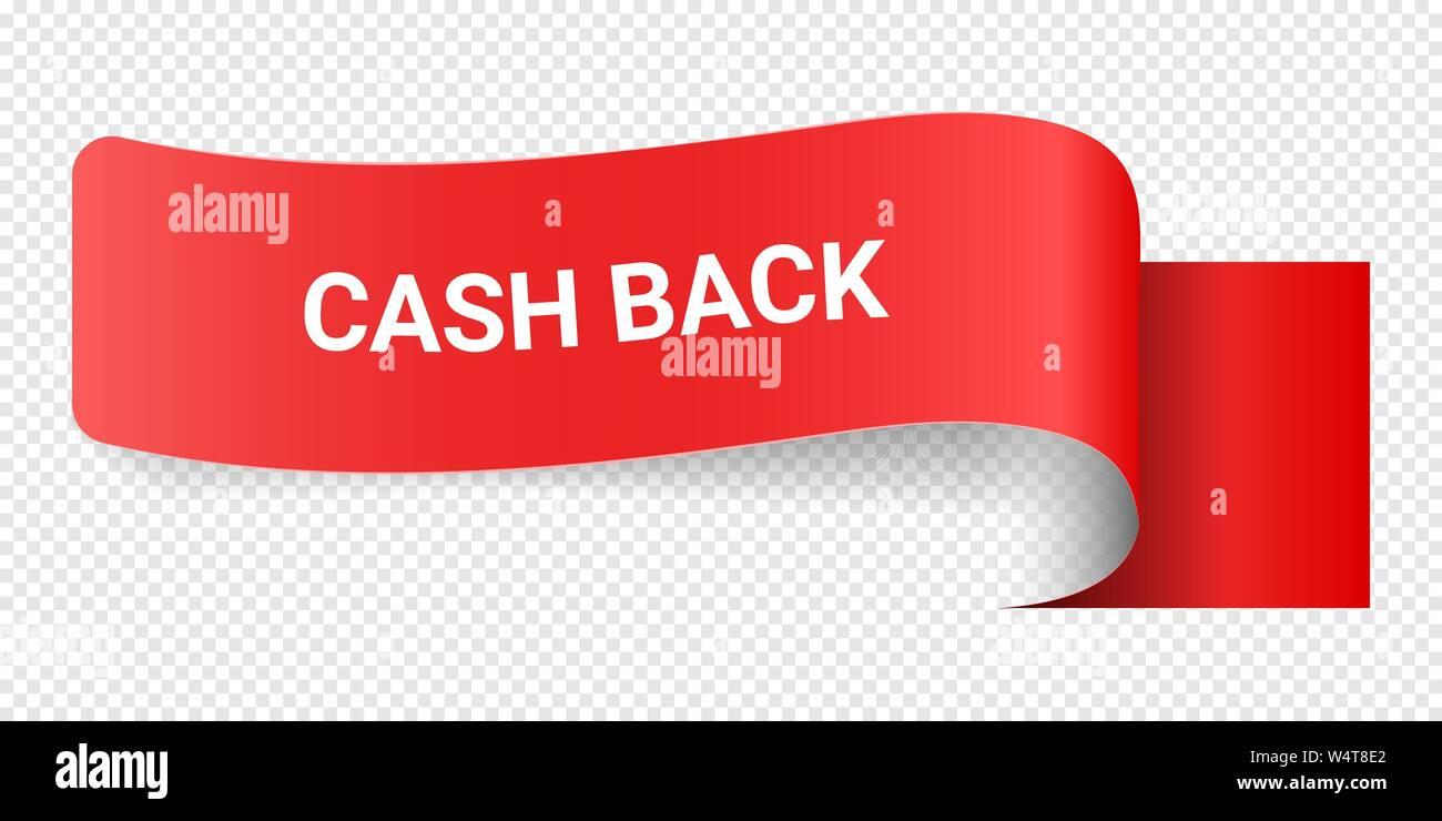 Red Vector Illustration Sign Cash Back Illustrations For
