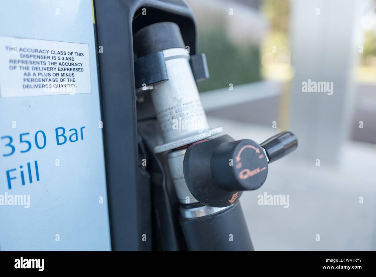 Close-up of pump apparatus at an experimental consumer