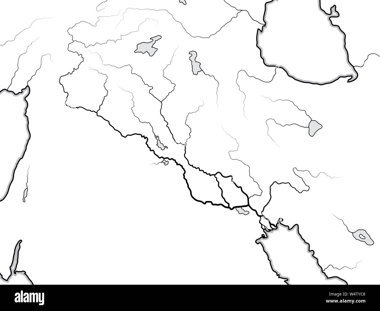 Image of: World Map Of The Tigris Euphrates Valley Iraq Syria Armenia Kurdistan Iran Levant Near East Middle East Persian Gulf Geographic Chart Stock Photo Alamy