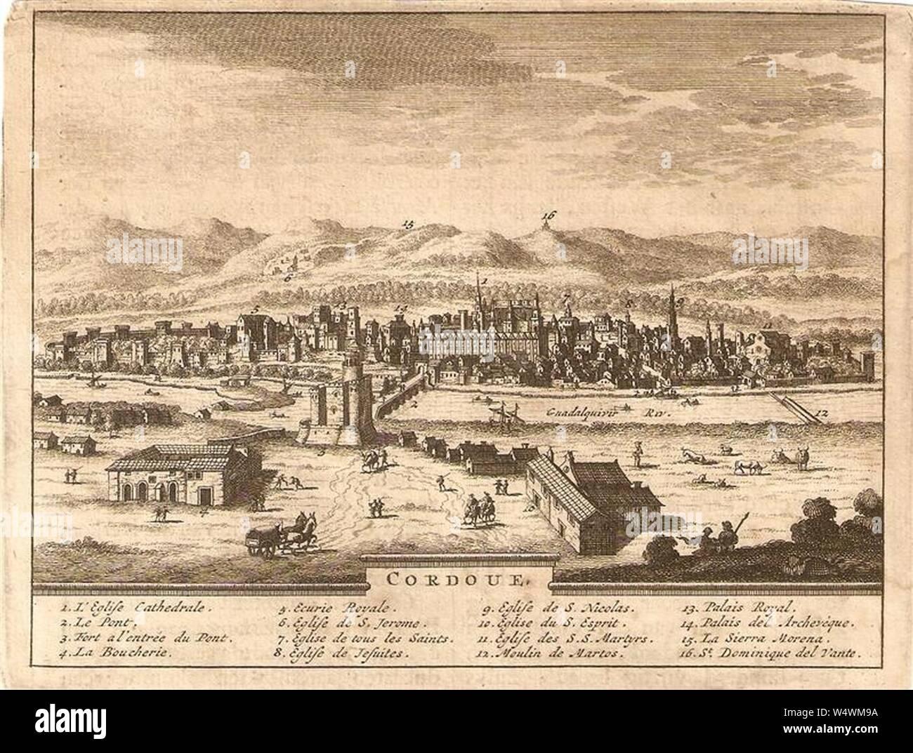 Cordoue (1715) - Pieter van der Aa Stock Photo - Alamy