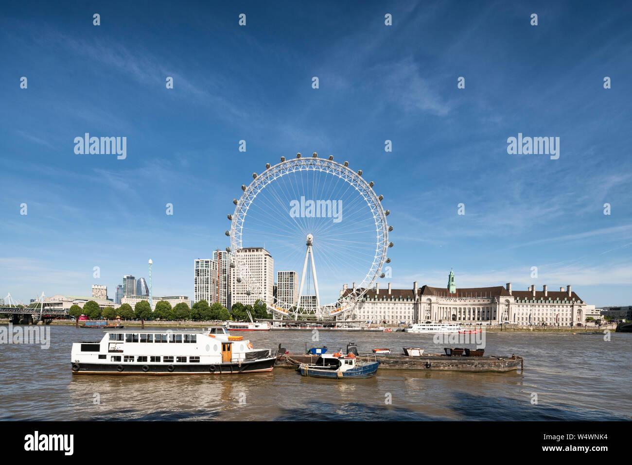 JULY 24, 2019 London Eye, London, UK Stock Photo