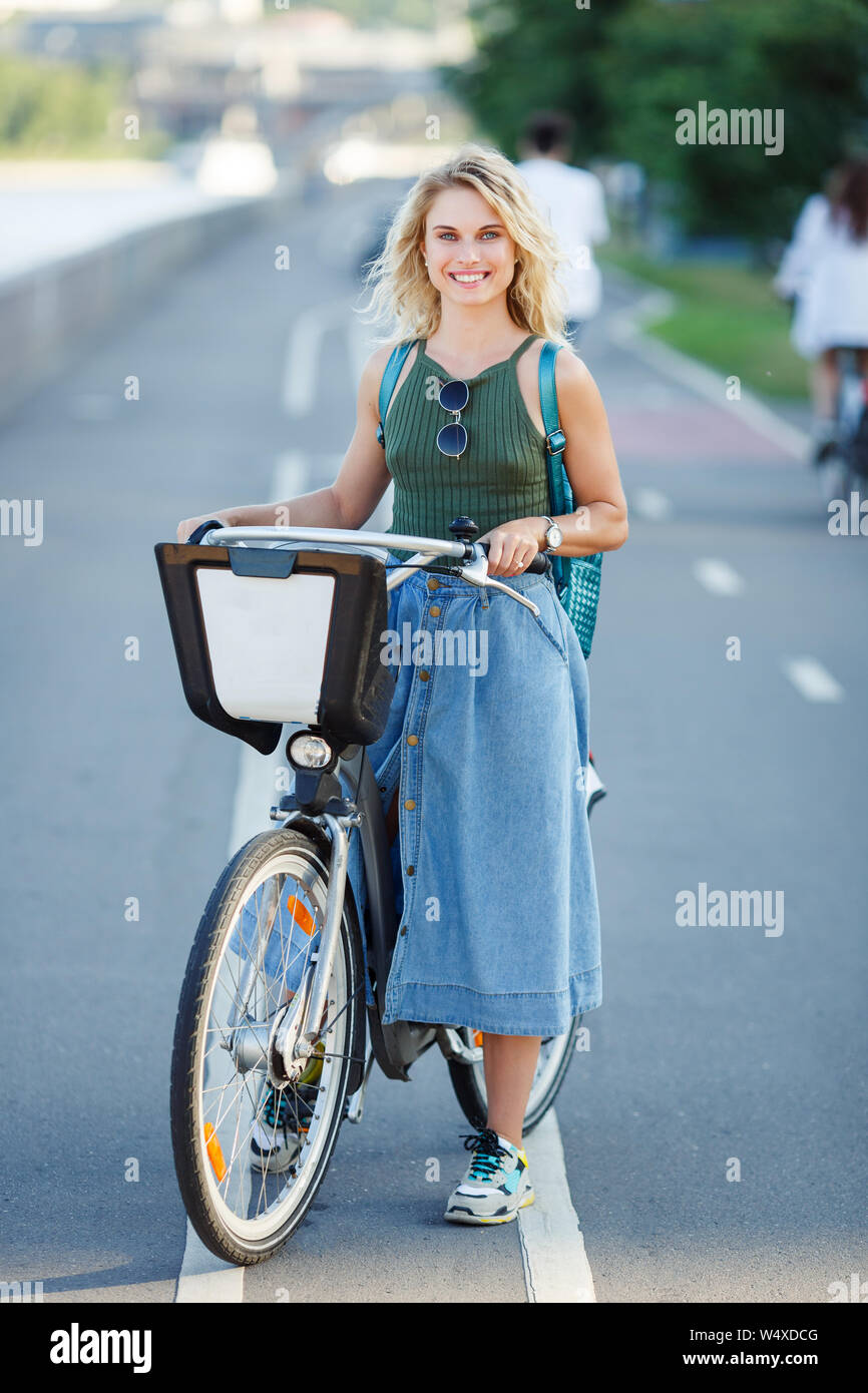 dd719707d38 Denim Skirt Stock Photos & Denim Skirt Stock Images - Alamy
