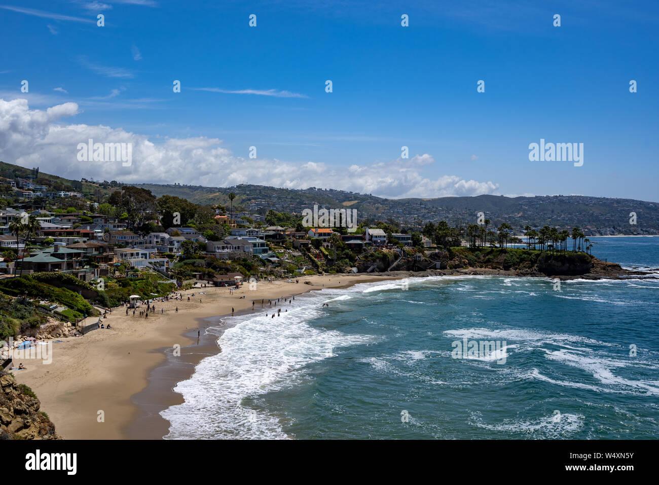 Idyllic view in Laguna Beach, California, USA Stock Photo