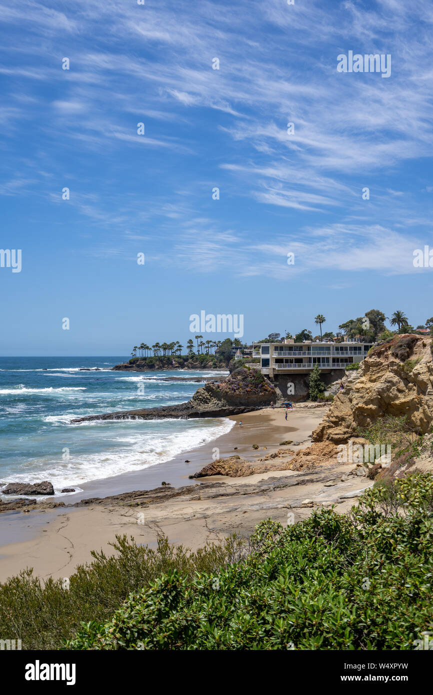 Idyllic view in Laguna Beach, California, USA Stock Photo