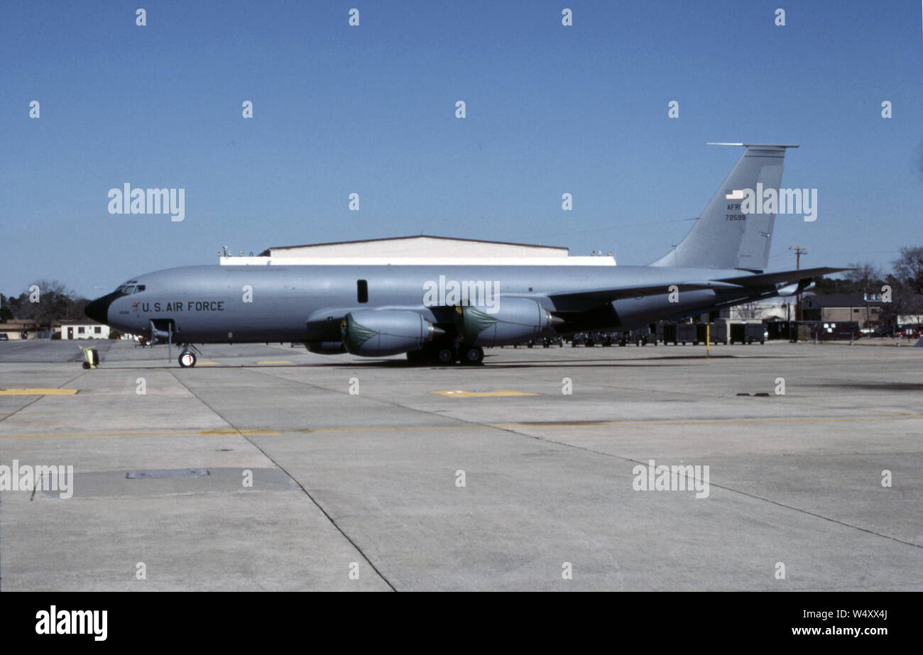 USAF United States Air Force Boeing KC-135R Stratotanker Stock Photo