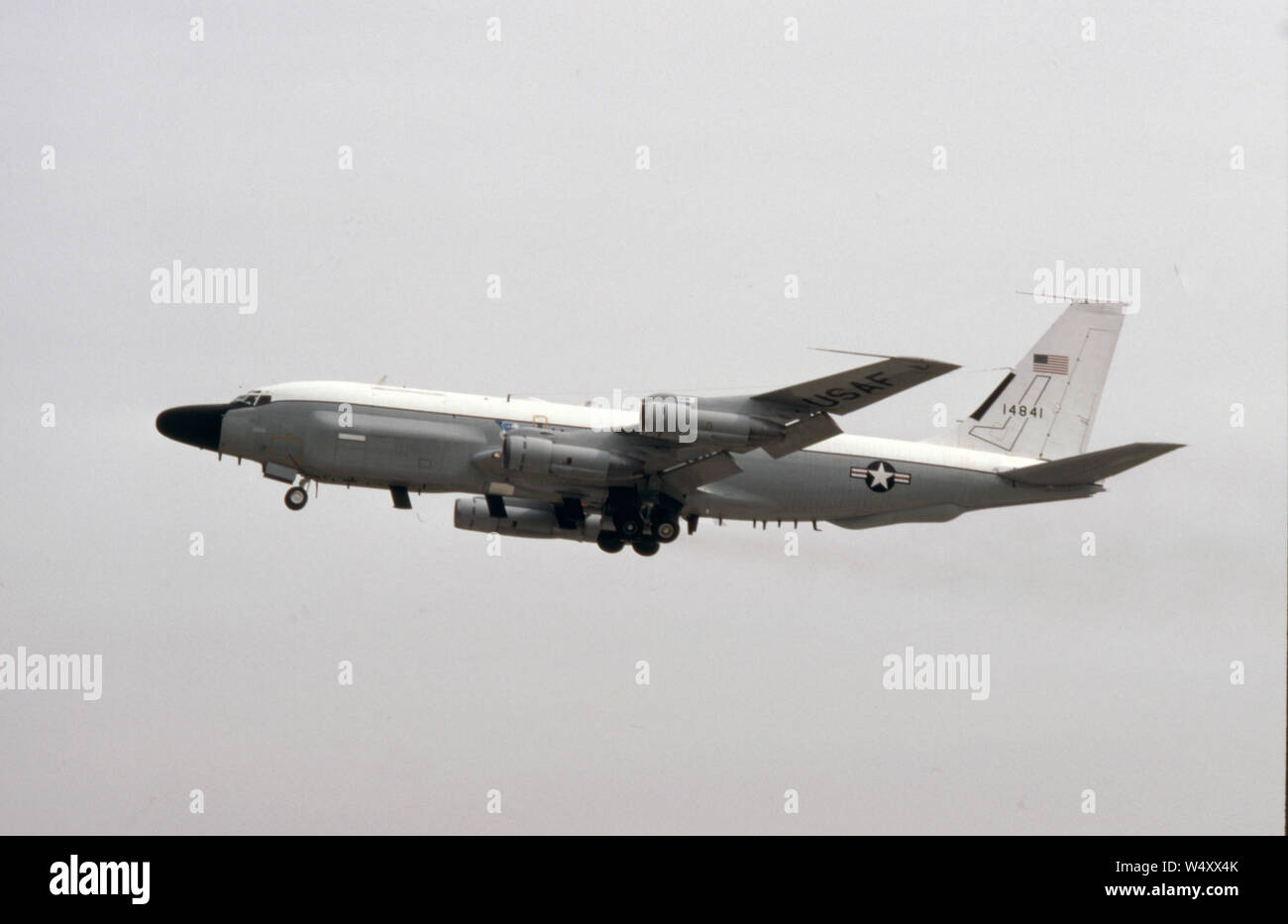 USAF United States Air Force Boeing RC-135V Stock Photo