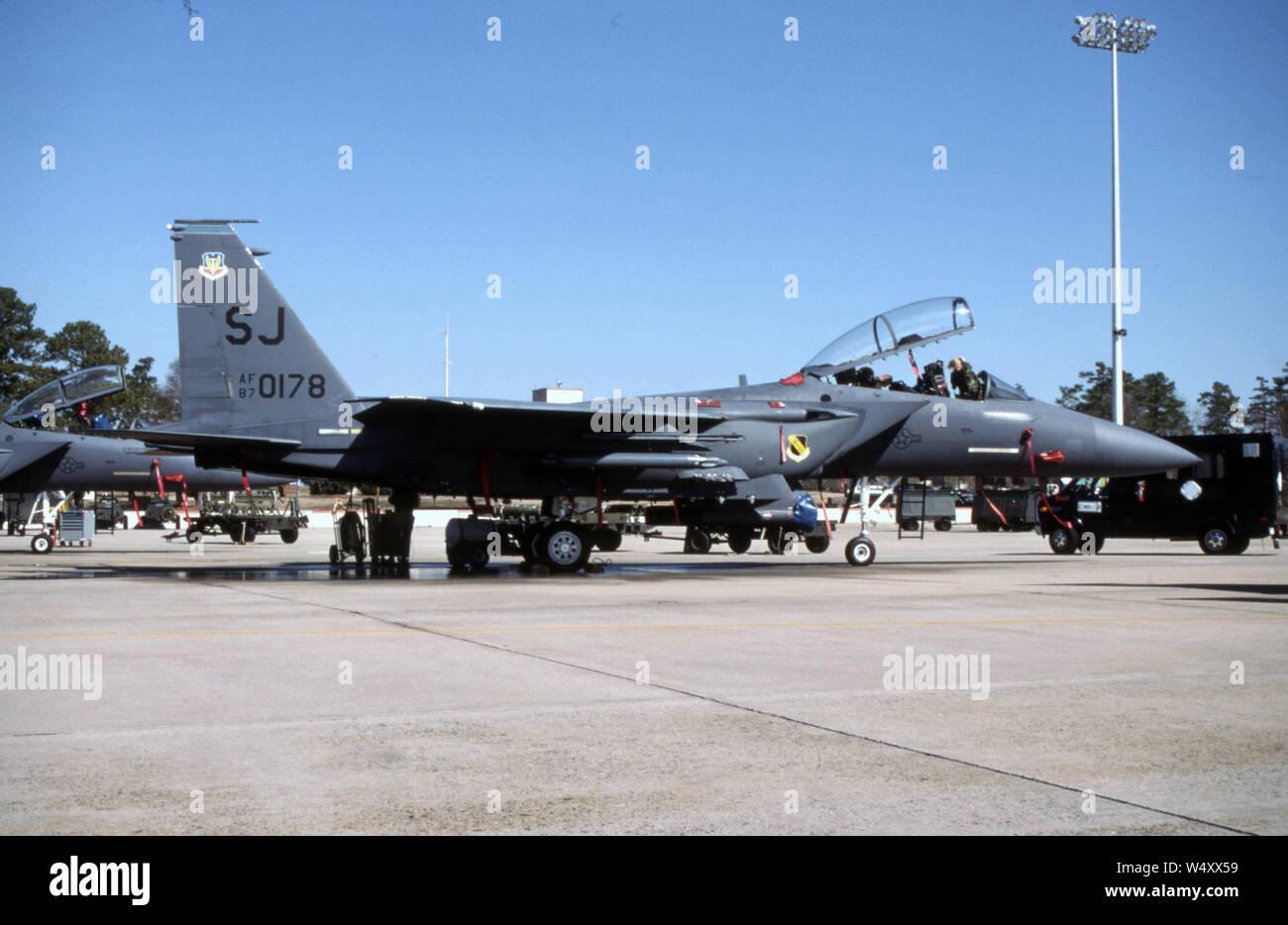 USAF United States Air Force McDonnell Douglas F-15E Strike Eagle Stock Photo