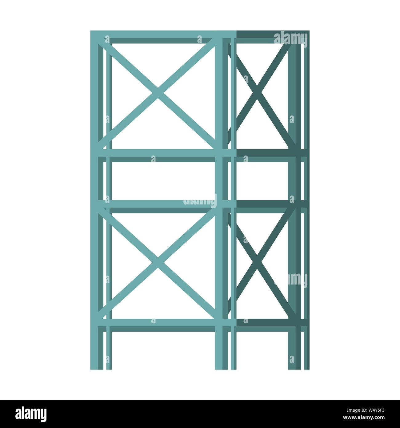 construction architecture engineering industrial cartoon Stock Vector