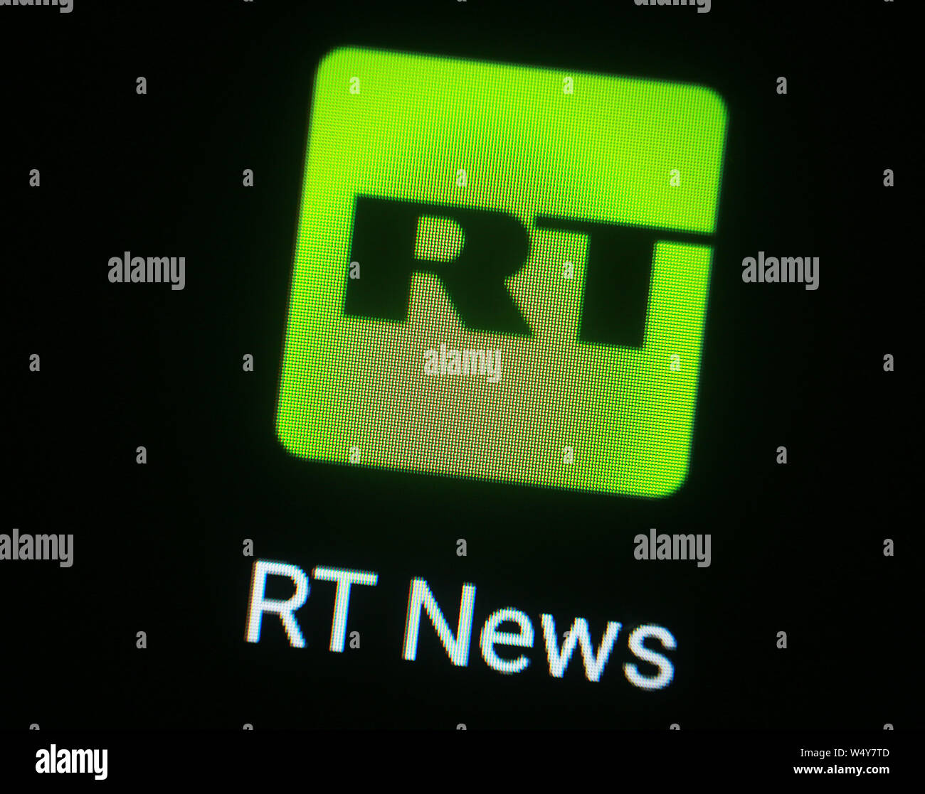 Russia Today News Channel Stock Photos & Russia Today News