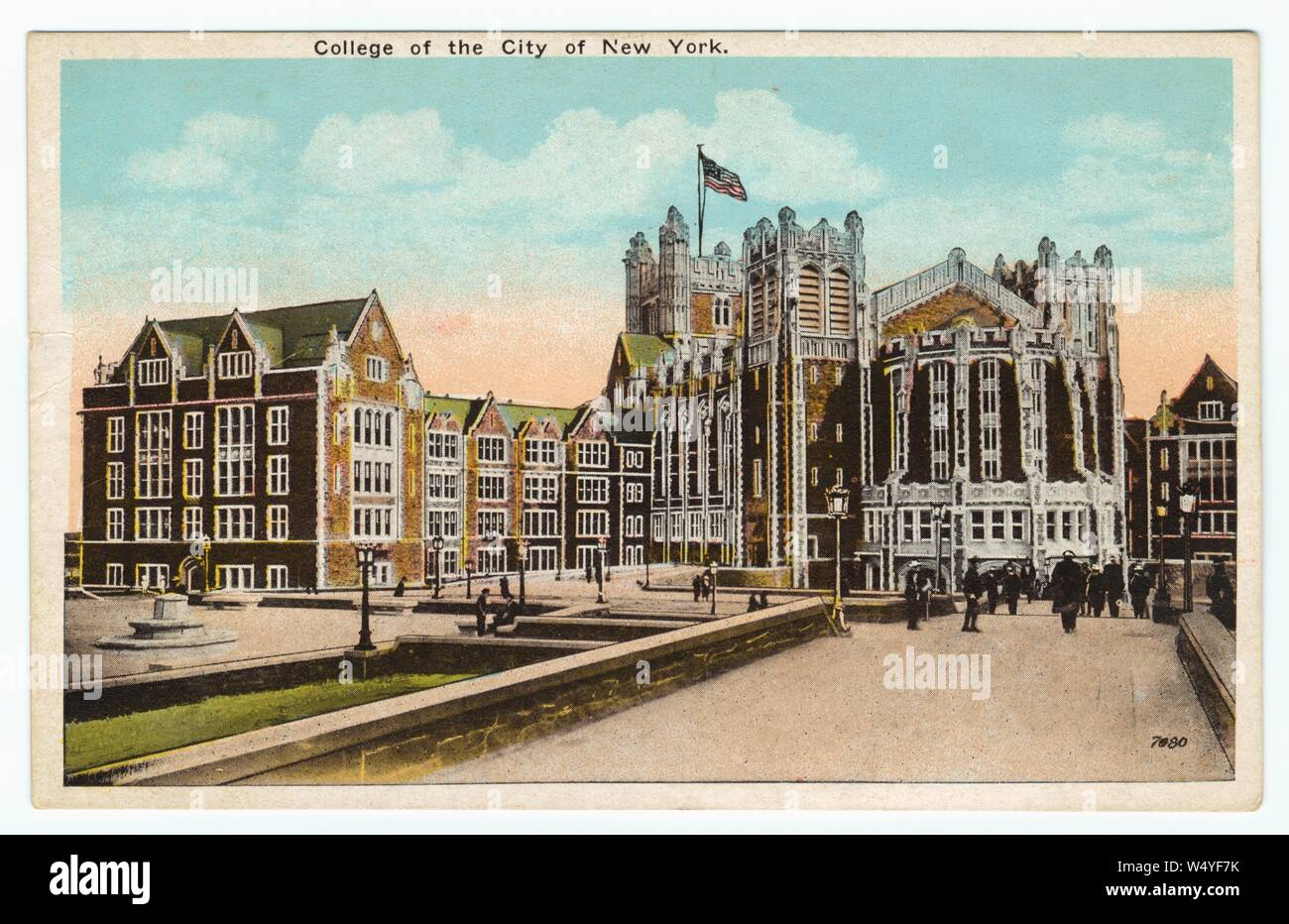 Art Colleges In New York >> Illustrated Postcard Of The College Of The City Of New York