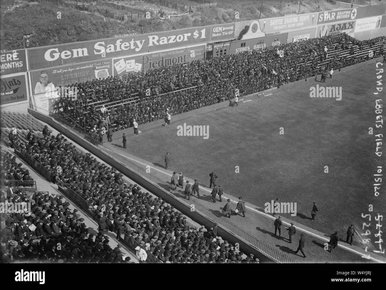 Ebbets Field 1913 Baseball Tee Shirt-passé Home of the Brooklyn Dodgers