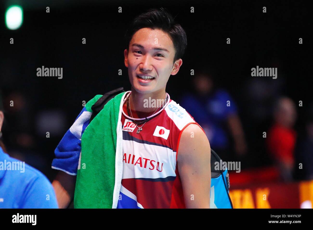 Tokyo, Japan. 23rd July, 2019. Kento Momota (JPN) Badminton : Daihatsu Yonex Japan Open 2019 men's Singles at Musashino Forest Sport Plaza in Tokyo, Japan . Credit: Sho Tamura/AFLO SPORT/Alamy Live News Stock Photo