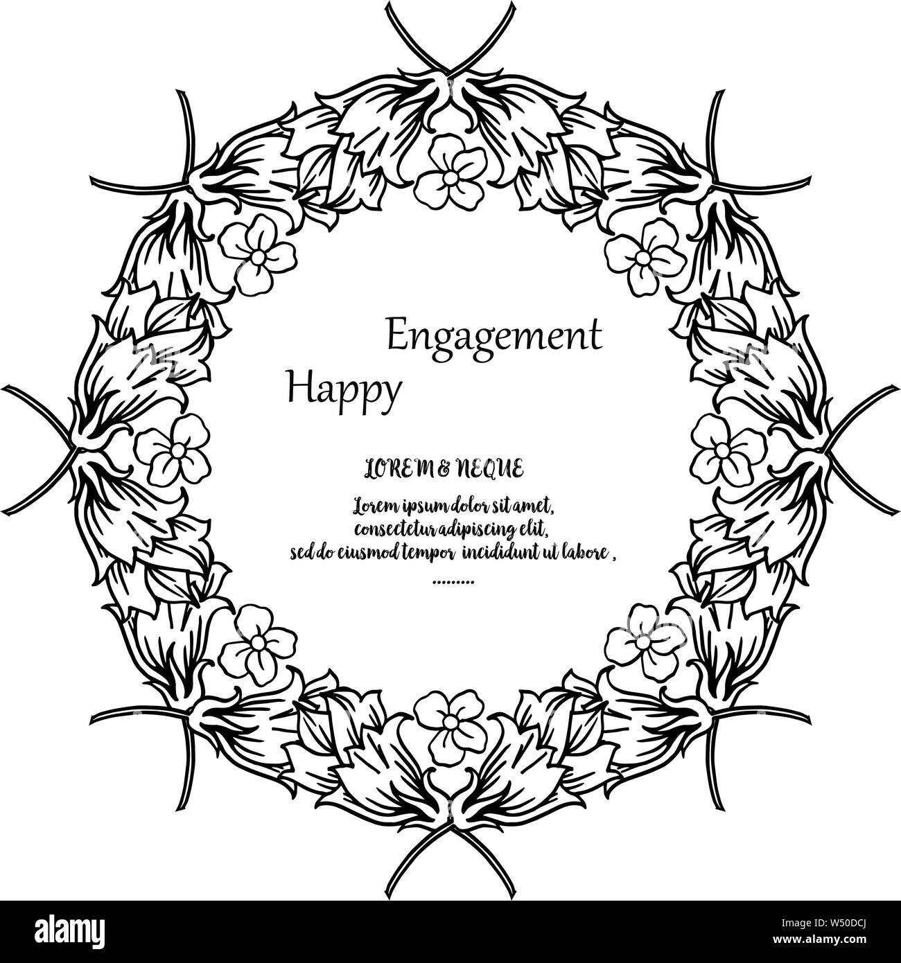 Card Happy Engagement Invitation Card Design Elegant