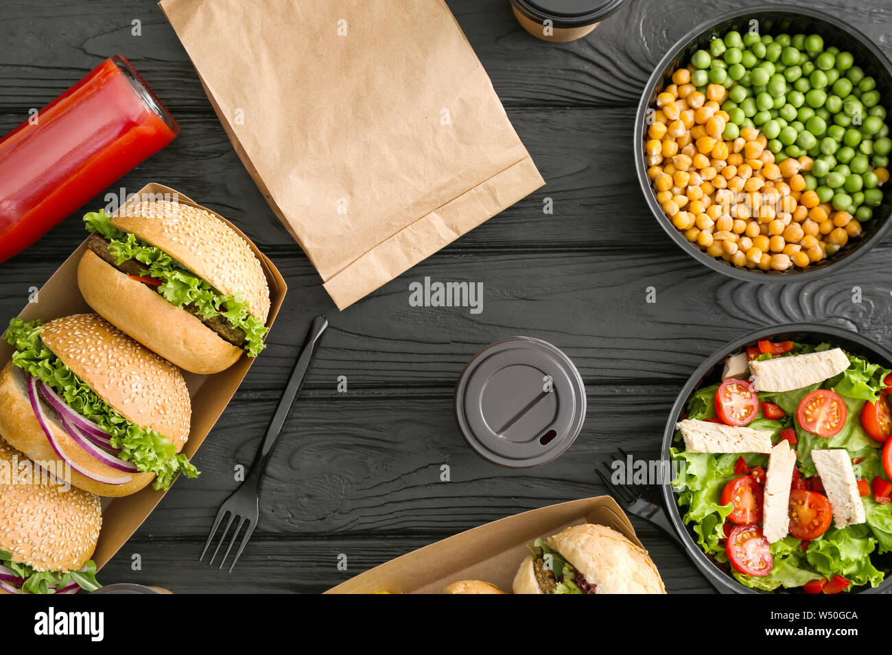 Takeaway Food Delivery Stock Photos & Takeaway Food Delivery