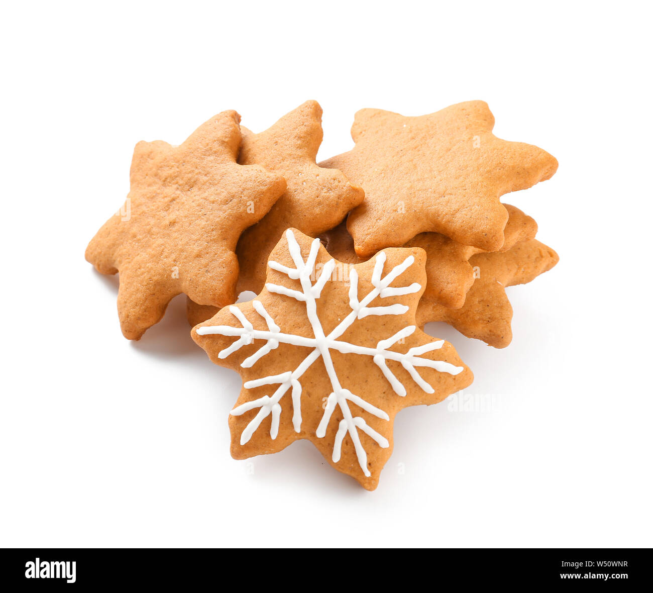 Tasty Christmas Cookies On White Background Stock Photo 261249011