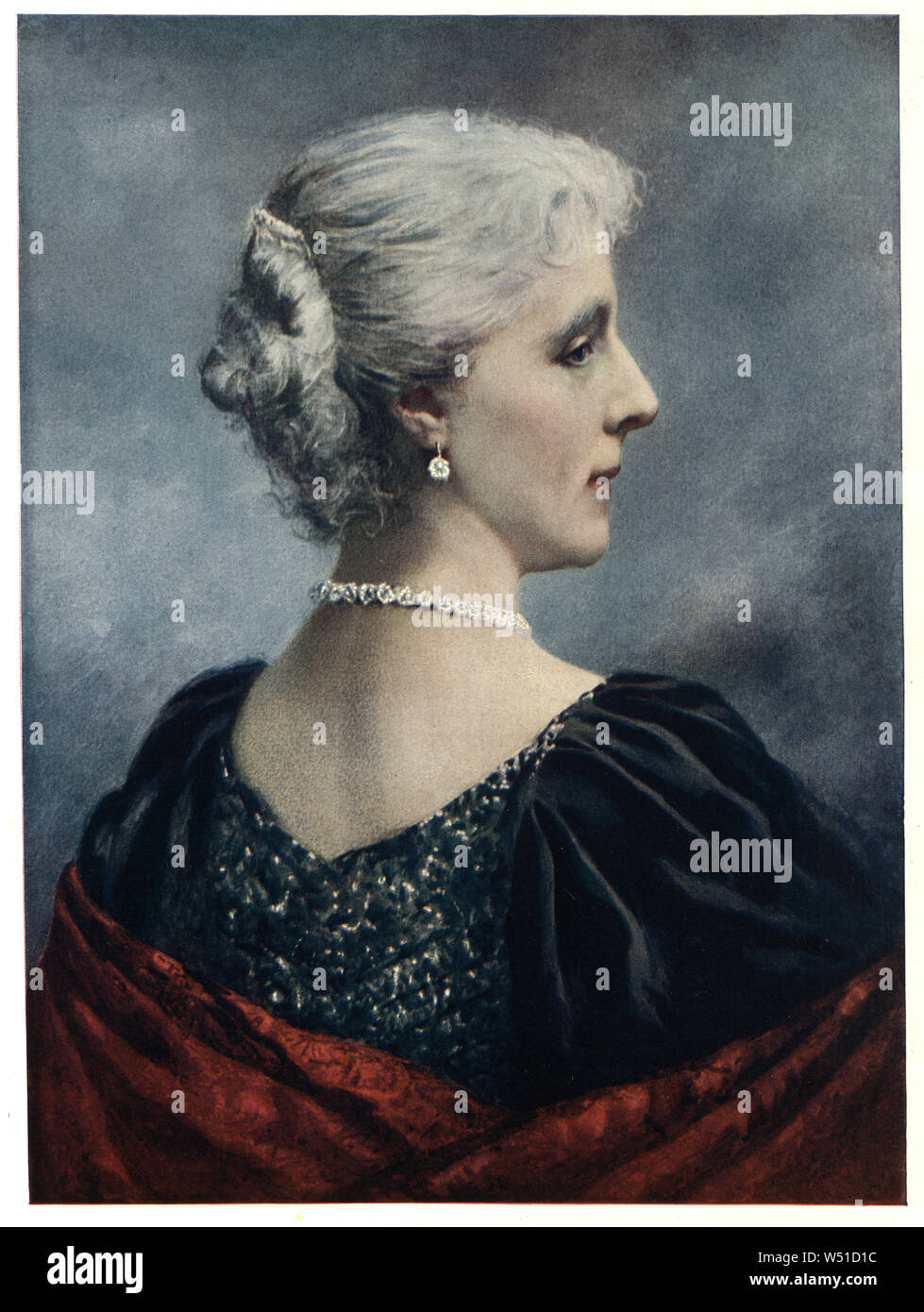 Marie Henriette of Austria (Marie Henriette Anne; 23 August 1836 – 19 September 1902) was Queen of the Belgians as the wife of King Leopold II. Stock Photo