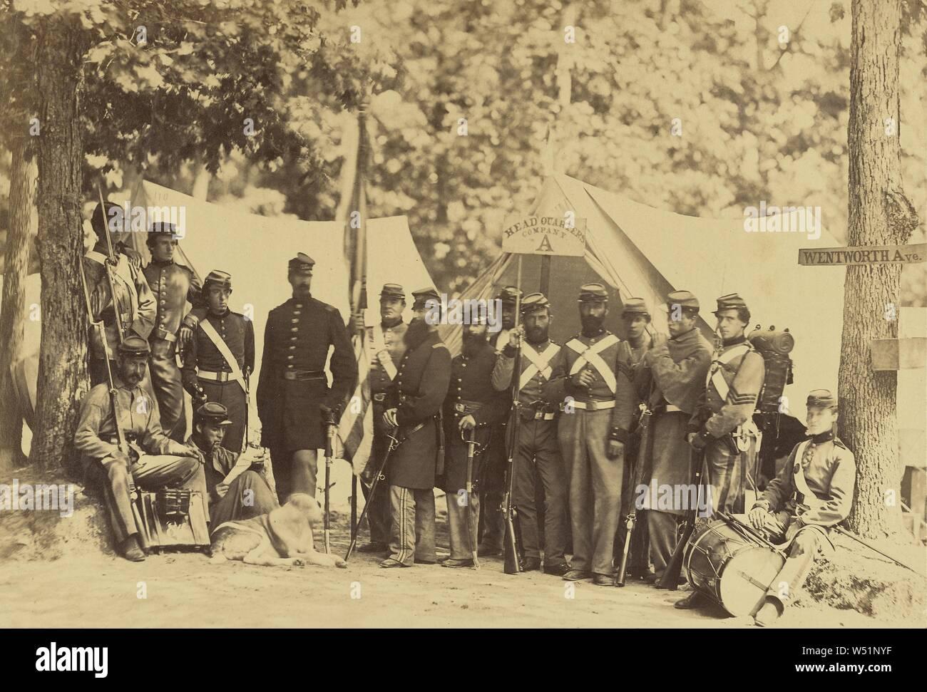 1861-Civil War Photo Engineer Company 12th New York State Militia-Camp Anderson