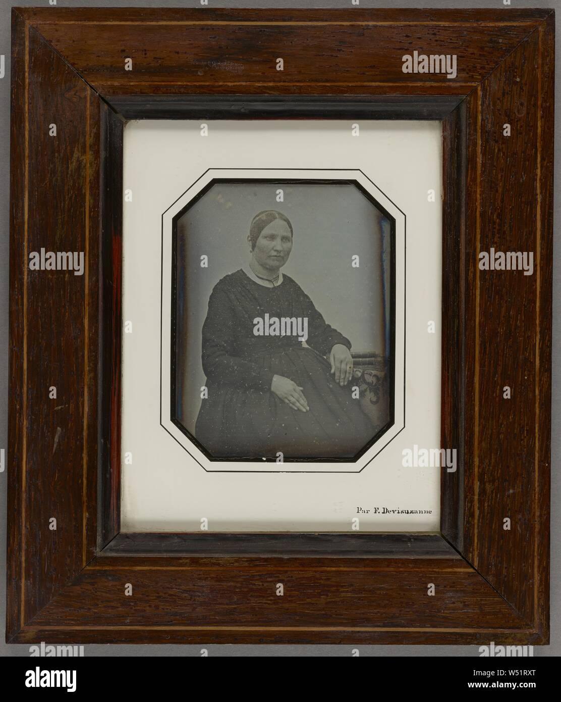 Portrait of Jenny Fontane, Félix Devisuzanne (French, born 1809), June 19, 1846, Daguerreotype Stock Photo