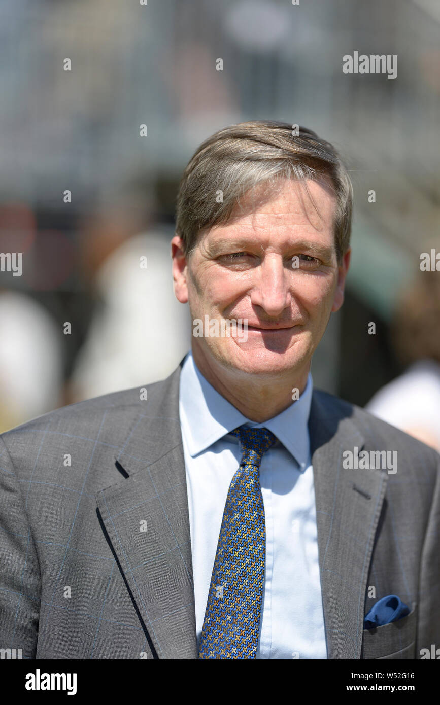 Dominic Grieve MP (Conservative: Beaconsfield) former Attorney General, on College Green, Westminster, July 23rd 2019 Stock Photo