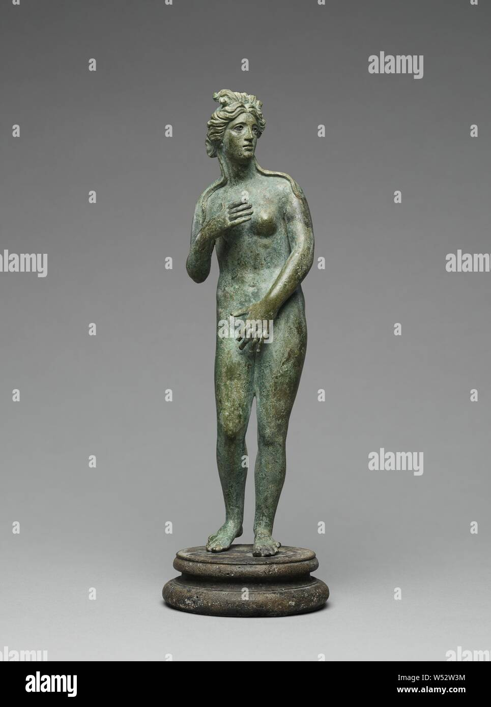 Statuette of Venus, Unknown, Roman Empire, 1st - 2nd century, Bronze with silver inlay, 25.7 cm (10 1/8 in Stock Photo