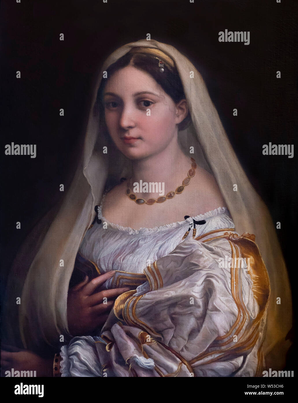 "7x9/"" Art Photo Print La Donna Velata by Raphael Painted in 1515"