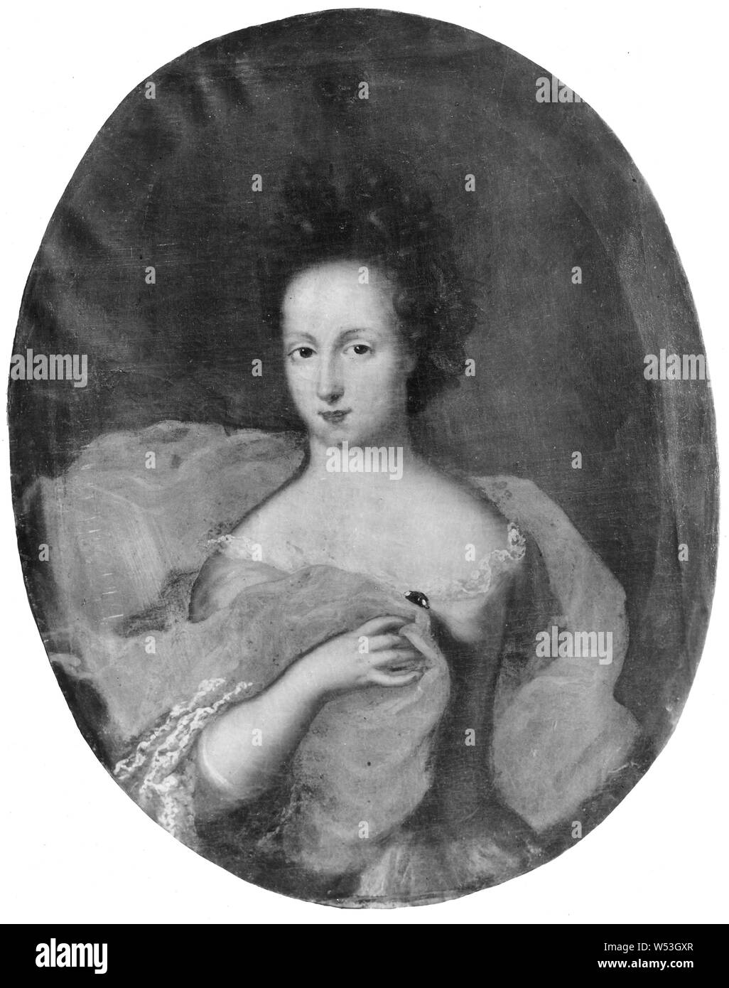 Princess Hedvig Sofia, Hedvig Sofia, 1681-1708, Princess of Sweden duchess of Holstein-Gottorp, painting, Hedvig Sophia of Sweden, Oil on canvas, Height, 81 cm (31.8 inches), Width, 64 cm (25.1 inches) Stock Photo