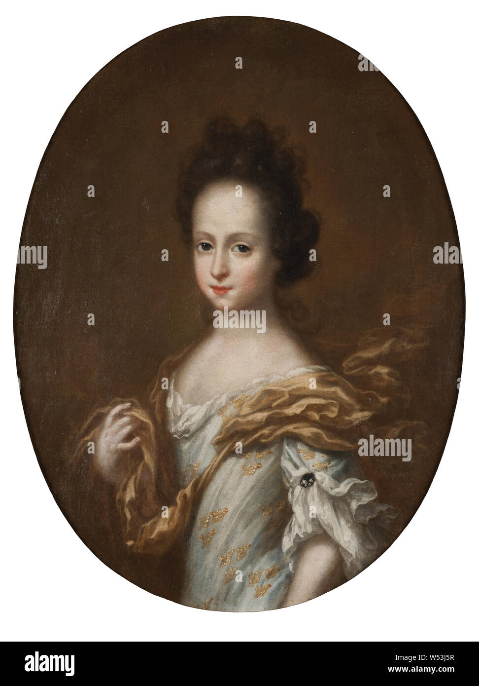 Attributed to David Klöcker Ehrenstrahl, Princess Hedvig Sofia, Hedvig Sophia of Sweden (1681–1708), Swedish princess and a Duchess Consort of Holstein-Gottorp, Hedvig Sofia, 1681-1708, Princess of Sweden, duchess of Holstein, Gottorp, painting, Hedvig Sophia of Sweden, oil on canvas, Height, 74 cm (29.1 inches), Width, 57 cm (22.4 inches) Stock Photo
