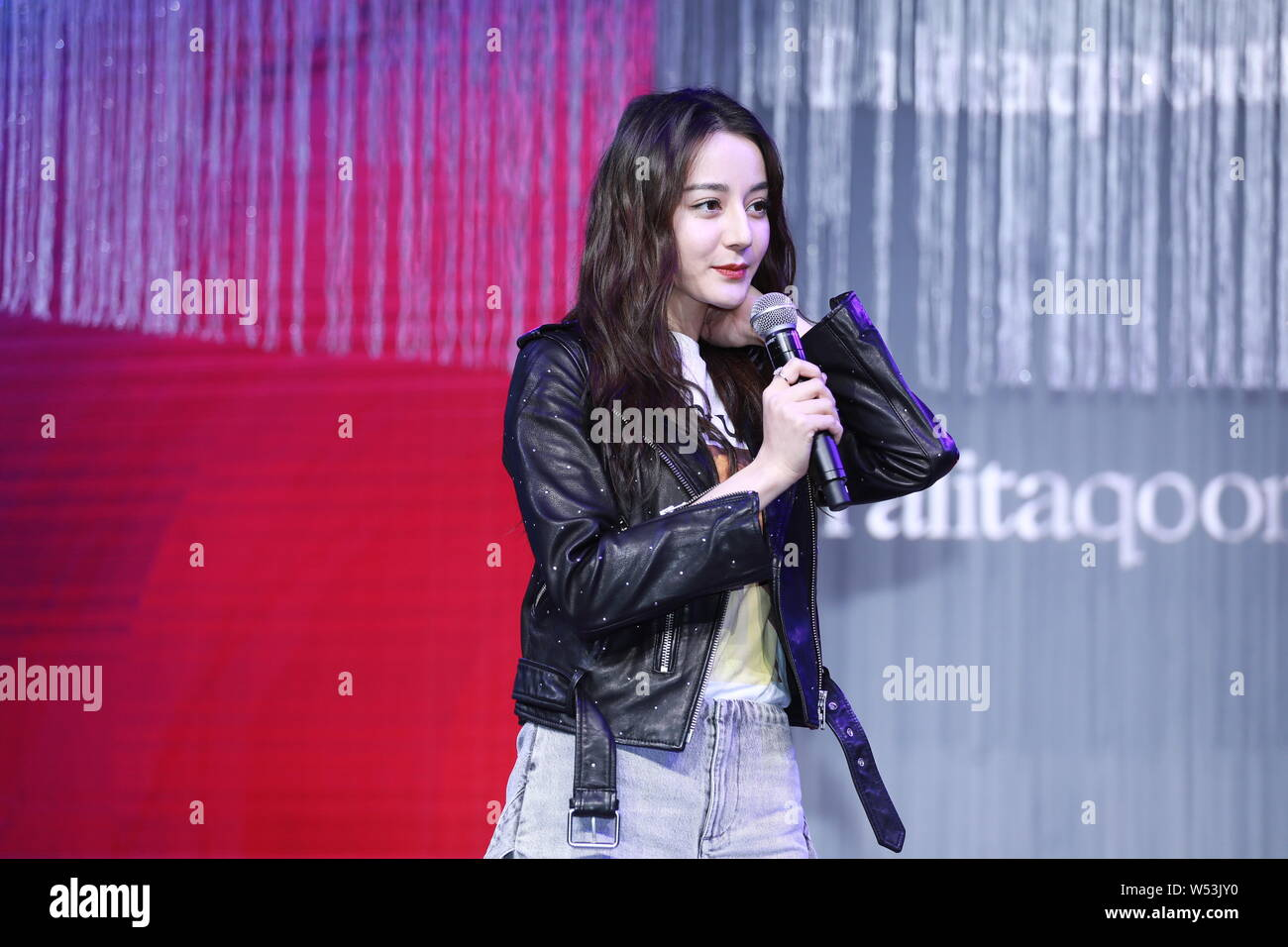 Chinese Uigur actress Dilraba Dilmurat attends the 20th anniversary ceremony for JOSINY in Shanghai, China, 12 January 2019. Stock Photo