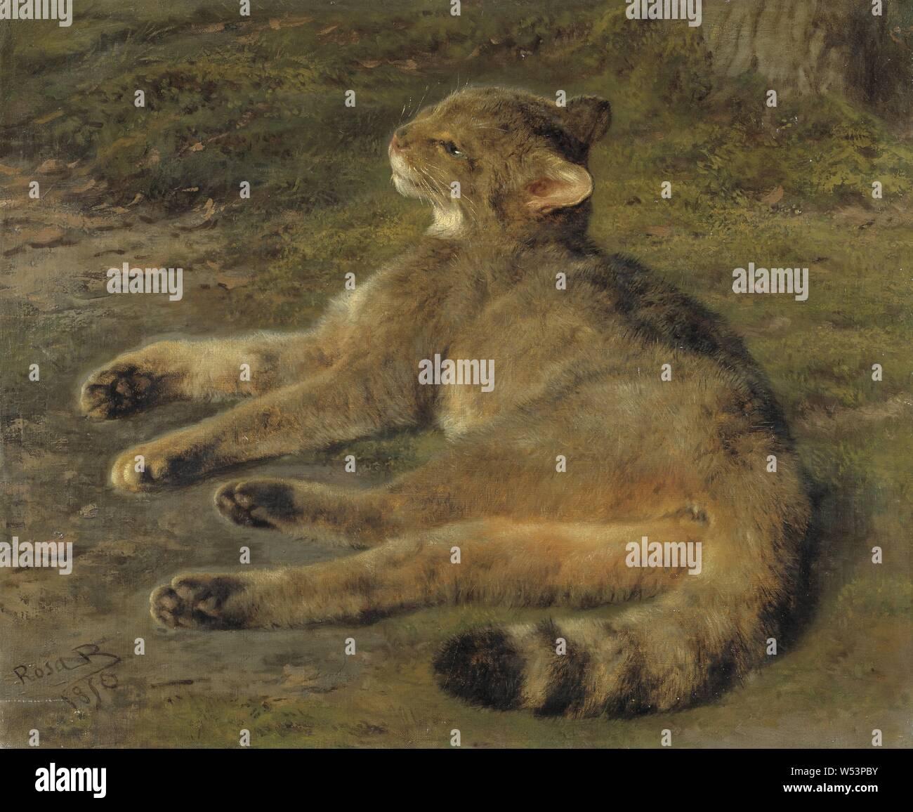 Canvas Wall Art John WEGUELIN le obsequies of an Egyptian cat