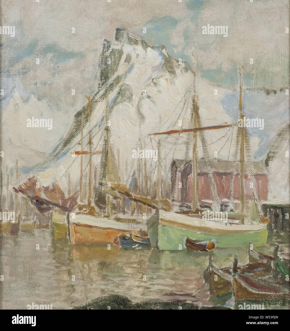 Anna Boberg, In the Harbor, Svolvaer, Study from Lofoten, I