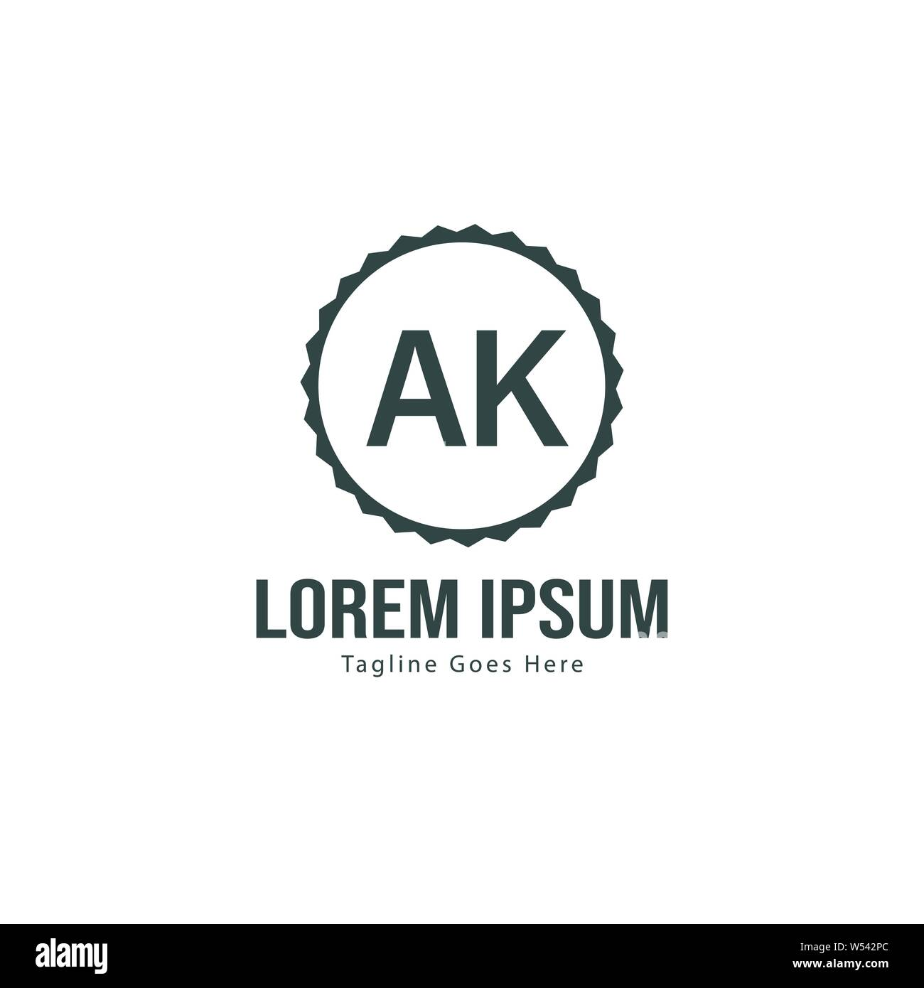 ak letter logo design creative modern ak letters icon illustration design stock vector image art alamy alamy