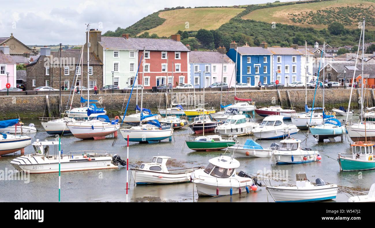 Aberaeron a popular seaside town in Ceredigion, Wales, UK Stock Photo