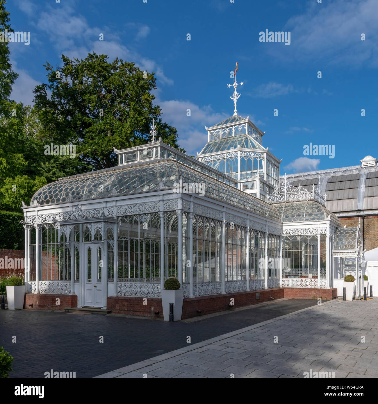 Horniman Museum near Forest Hill, was designed by architect Charles Harrison Townsend, opened in 1901. Horniman insisted the museum was freely open. Stock Photo